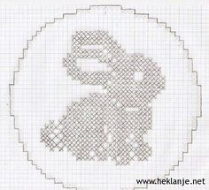 Mary Heklani Radovi I Sheme 414 Crochet Applique Patterns Free, Filet Crochet Charts, Cross Stitch Patterns, Hand Embroidery Stitches, Diy Embroidery, Cross Stitch Embroidery, Holiday Crochet, Easter Crochet, Crochet Curtains
