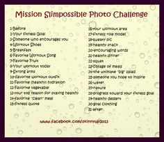 Here's the daily photo challenge for my facebook challenge group!
