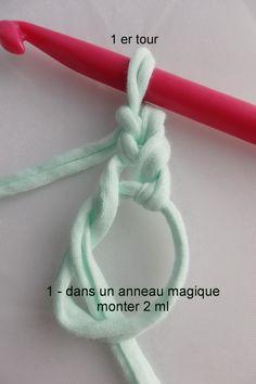 Tutoriel pour un tapis rond crocheté en brides alt= Crochet Diy, Couture Sewing, Yarn Projects, Flashcard, Diy And Crafts, Appliques, Crochet Patterns, Tapestry, Wool