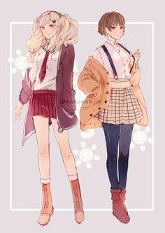 Persona 5 Ann Takamaki and Makoto Niijima Persona 5 Makoto, Persona 5 Ann, Persona Five, Makoto Niijima, Shin Megami Tensei Persona, 5 Anime, Character Outfits, Looks Cool, Akira