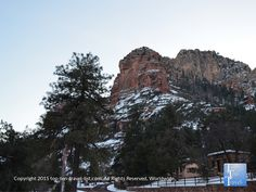 Snow on the red rocks at Slide Rock State Park in #Sedona, Arizona - a beautiful drive down Oak Creek Canyon after a winter storm is a must!
