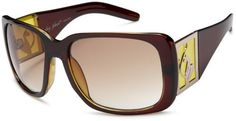 baby phat Women's 2042 Rectangular Sunglasses,Brown Frame/Brown Lens,one size Baby Phat. $59.00. Arm: 130 millimeters; Case Included; 100% UV protection coating; Bridge: 15 millimeters; Non-Polarized; Made in China; Lens height: 47 millimeters; Plastic lens; Lens width: 60 millimeters; Resin frame