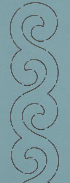 """Scroll Border 2.5"""" - The Stencil Company"""