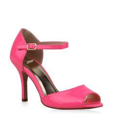 Klassische Sandaletten in trendy Neonpink von stiefelparadies.de