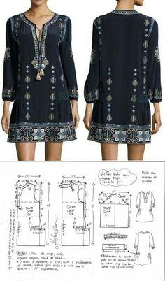 Boho sleeved dress...<3 Deniz <3