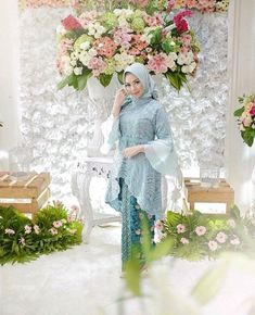 Image may contain: 2 people, flower and plant Model Kebaya Brokat Modern, Kebaya Modern Hijab, Dress Brokat Modern, Kebaya Hijab, Kebaya Muslim, Muslim Dress, Dress Muslim Modern, Kebaya Lace, Kebaya Dress