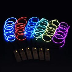 Computer Cables & Connectors Generous Battery Operated Luminescent Neon Led Lights Glow El Wire String Strip Rope Fine Quality