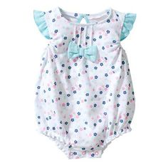 Baby Girl Romper Bodysuits (white)