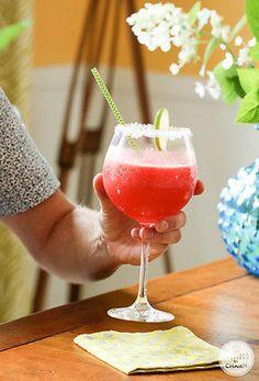 Watermelon Margaritas - fun and fresh take on a classic cocktail. Made with fresh watermelon. Yum!