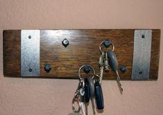 Wine Barrel 5 Peg Horizontal Key Rack with by winebarrelwoodcraft, $24.69