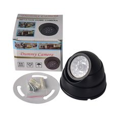 FGHGF Outdoor CCTV Fake Simulation Dummy Camera Home Surveillance Security Dome Mini Camera Flashing LED Light. Click visit to buy