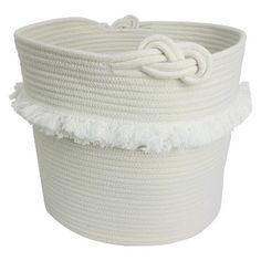 Rope Toy Storage Basket With Fringe Large White - Pillowfort™ : Target