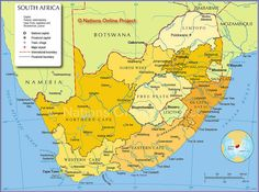 Map of South Africa Provinces - Nations Online Project South Africa Map, Out Of Africa, African Map, Subway Map, Le Cap, Tourist Map, Printable Maps, Country Maps, Countries Of The World