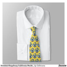 #Swedish #Kingsburg #California Necktie. Design also available on a wide range of other apparel including hoodies, sweatshirts, tank tops and tees. #zazzle #ancestry #sweden