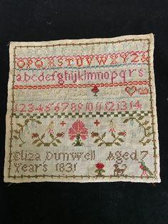 Small 1831 Needlework Sampler