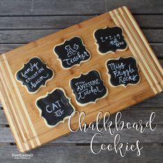 Doodlecraft: Chalkboard Sugar Cookies! Plaque Cookie Cutter - https://www.annclarkcookiecutters.com/product/square-plaque-cookie-cutter
