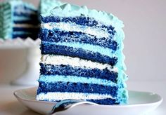 Blue Velvet Ruffle Cake recipe--you will find the link for the recipe in the article. This recipe is from scratch, no mix about it.  Some people want cake.  Cake and nothing but cake.