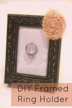 DIY Framed Ring Holder