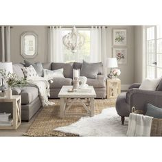 Get inspired by Cottage Country Living Room Design photo by Joss & Main. Wayfair lets you find the designer products in the photo and get ideas from thousands of other Cottage Country Living Room Design photos. Coastal Living Rooms, Elegant Living Room, Living Room Grey, Home Living Room, Living Room Decor, Modern Living, Small Living, Luxury Living, Apartment Living