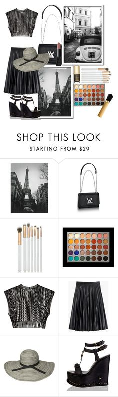 """""""From Paris With Love"""" by tattooedmum ❤ liked on Polyvore featuring Spectrum, Dolce&Gabbana, J.Crew, Sunday Afternoons, Christian Louboutin, paris, contestentry and blackandwhitephoto"""