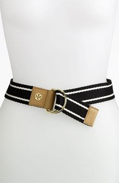 Tory Burch Stripe Webbing Belt available at Nordstrom