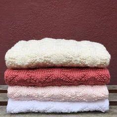 Image of Blomster Håndklæde 36 x 46 cm. Drops Design, Knit Patterns, Pot Holders, Towel, Pumpkin, Creative, Crafts, Inspiration, Image