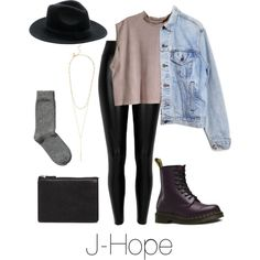 A fashion look from January 2016 featuring H&M tops, Levi's jackets and Black leggings. Browse and shop related looks.