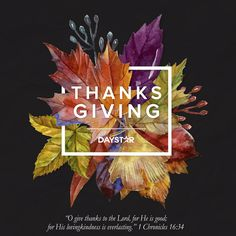 Happy Thanksgiving! [Daystar.com]