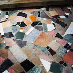 Super cool mosaic floor. Love this look right now. Xk @Kelly Teske Goldsworthy Teske Goldsworthy Teske Goldsworthy Wearstler Instagram