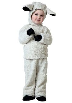 Don't be so sheepish! This Toddler Sheep Costume is a cute animal costume for little kids.