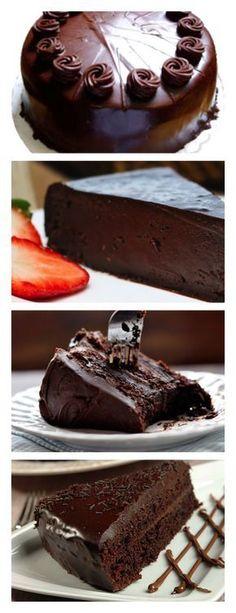 Bolo de chocolate meio amargo veja>> save este pin Aqueça o forno em temperatura alta. 2. Unte com manteiga duas formas de 21 cm de diâmetro. #bolo#torta#doce#sobremesa#aniversario#pudim#mousse#pave#Cheesecake#chocolate#confeitaria