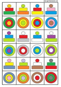 Lapercepción visualfacilita la observación y la comprensión de las imágenes por parte de los niños. De este modo ellos logran distinguir las diferentes partes dentro de un diseño visual. Cerca … Preschool Learning Activities, Free Preschool, Preschool Activities, Kids Learning, Cognitive Activities, Fun Worksheets For Kids, Preschool Worksheets, Visual Perception Activities, Montessori Toddler
