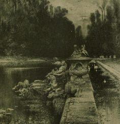 """vertigo1871: """"Friedrich von Schennis (1852-1918), Im Park von Versailles """""""