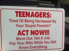 Too funny not to post! Funny for parents of teenagers! Pretty sure I thought I knew everything back then. Great Quotes, Me Quotes, Funny Quotes, Sensible Quotes, Quirky Quotes, Humor Quotes, Quotable Quotes, Happy Quotes, You Stupid