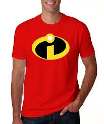 Incredibles Superhero I logo T Shirt: For the fans of The incredibles, here comes I logo Tshirt. It is cool, stylish and an eye catching attire for all Fans. Incredibles Logo, Red Logo, New Fashion, Shop Now, Stylish, Tees, Mens Tops, T Shirt, Cotton