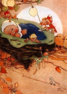 Mabel Lucie Atwell, Carried Off By Fairies  From: fairies & pixies