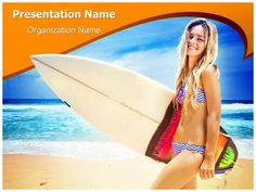 Female Surfer Powerpoint Template is one of the best PowerPoint templates by EditableTemplates.com. #EditableTemplates #PowerPoint #Coast #Board #Horizon #Big Island #Recreational Pursuit #Bikini #Female #Holiday #Desire #Adult #Contemporary #Passion #Fun #Surfboard #Surf #Real People #Sun  #Attractive #Pretty #Expressing Positivity #Sexy #Cute #Female Surfer #Sporty #Hot #Slim #Sport #Sky #Beautiful #Smiling #Summer #Cloud #Smile #Carefree #Girl
