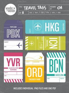 Travel tags! Scrapbook idea once I go to these places!