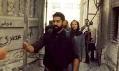 Street artists say they were asked to add authenticity to scenes of Syrian refugee camp, but took chance to air criticisms of show's depiction of Muslim world