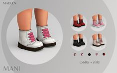 Madlen Mani Boots New leather boots for kids and. Toddler Cc Sims 4, Sims 4 Toddler Clothes, Sims 4 Cc Kids Clothing, Sims 4 Mods Clothes, Toddler Shoes, Toddler Outfits, Mods Sims, Sims 4 Game Mods, Sims 4 Tsr