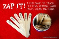 A fun reading game - kids won't even realize they are learning!
