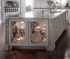 Charleston-Style Custom Home - Home Bunch Interior Design Ideas Anderson Doors, Cabinet Trim, Charleston Style, Interior Design Elements, Kitchen Cabinetry, Cabinets, French Doors, Custom Homes, Kitchen Design