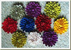 Pistachio Shell Flower Brooch Tutorial - #brooch, #diy, Jewelry