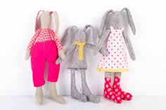 Easter+bunny+Rabbits+Family+mother+father+and+by+TIMOHANDMADE,+$148.00