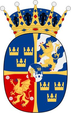 Coat of Arms for HRH Estelle Silvia Ewa Mary, Princess of Sweden, Duchess of Ostergotland