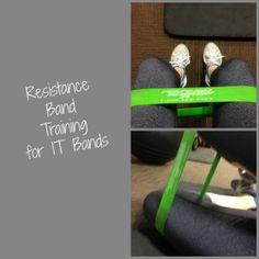 Resistance band training for IT Bands. Running injury prevention. Simply Social Blog Resistance Band Training, Resistance Band Exercises, It Band, Bands, Hip Flexibility, Running Injuries, Wednesday Workout, Stay In Shape, Injury Prevention