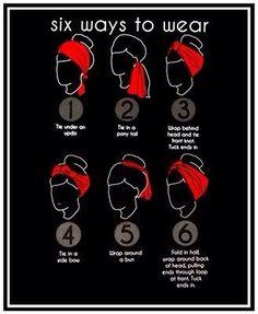 How to wear a bandana!