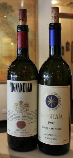 Sassicaia and Tignanello my 2 favorite italians