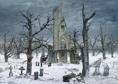 Caspar David Friedrich — Cloister Cemetery In The Snow