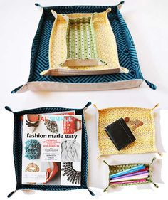 These fabric trays a